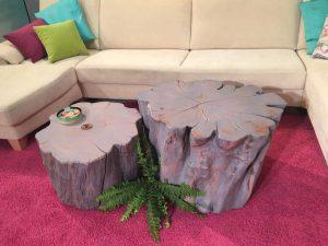 Klubska miza organske oblike - hruška