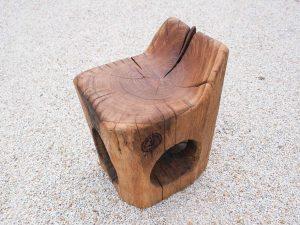 Stol z naslonom - hrast